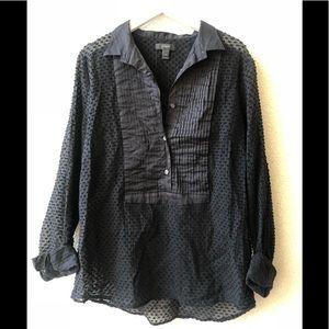 🍀 J Crew semi transparent blouse black 2